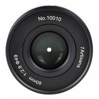 Für weitere Info hier klicken. Artikel: 7Artisans 60mm f/2,8 II Canon EF-M