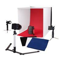 Für weitere Info hier klicken. Artikel: Caruba Tragbares Fotostudio mit separaten LED-Lampen 60x60x60x60cm