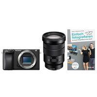 Für weitere Info hier klicken. Artikel: Sony Alpha 6400 (ILCE-6400) + SEL 18-105mm f/4,0 OSS PZ (Farbe: schwarz) + Buch Einfach fotografieren lernen