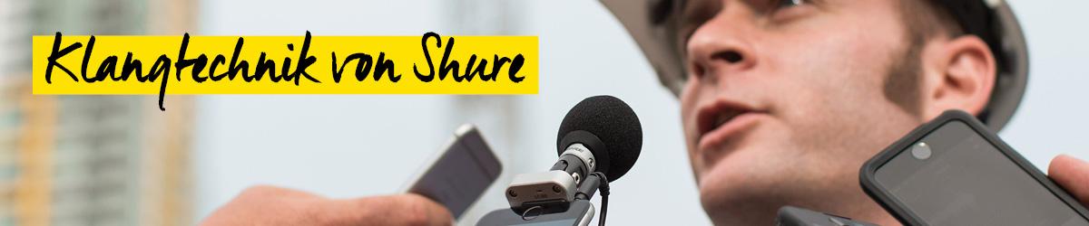 Shure Mikrofon, Kopfhörer und Klangtechnik